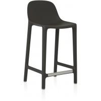 Sgabbello grigio scuro broom counter stool