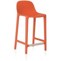 Sgabbello arancio broom counter stool