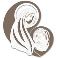 capezzale madonna con bambino 60x65cm
