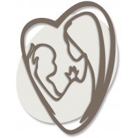 capezzale maternità cuore 30x40cm