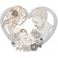 capezzale sacra famiglia cuore 110x87cm