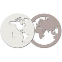 orologio doppio globo 120x67cm