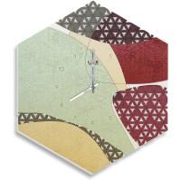 orologio esagonale 37,5x43cm