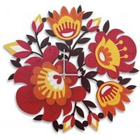 orologio fiori 51x46cm