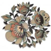 orologio rotondo fiori 51x48cm