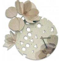 orologio rotondo fiori 42x48cm