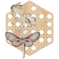 pannello decorativo intagliato farfalle 80x95cm