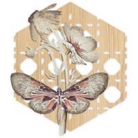 pannello decorativo intagliato farfalle 55x60cm