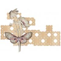 pannello decorativo intagliato farfalle 125x90cm