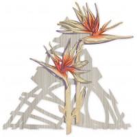 pannello decorativo intagliato fiori 60x60cm