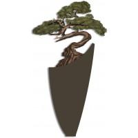pannello intagliato decorativo bonsai 73x135cm