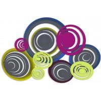 pannello intagliato decorativo cerchi 150x100cm