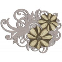 pannello intagliato decorativo fiori 150x100cm