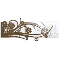 quadro su pannello intagliato astratto fiori  148x60cm