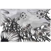 quadro su pannello intagliato fiori 150x100cm