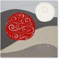 quadro su pannello intagliato natura 48x48cm