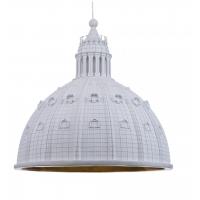 Lampadario cupolone 45cm bianco