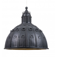 Lampadario cupolone 45cm nero