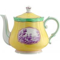 Teiera con coperchio per 12 lt 1.09 Antico Doccia toscana citrino
