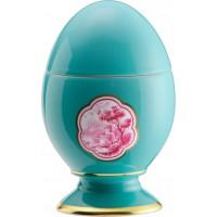 Uovo con coperchio Cartiglio Turchese