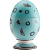 Uovo con coperchio Paesaggio Turchese
