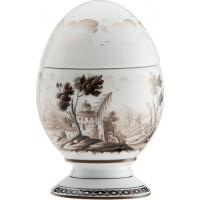 Uovo con coperchio Paesaggio Moro