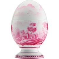 Uovo con coperchio Paesaggio Magenta