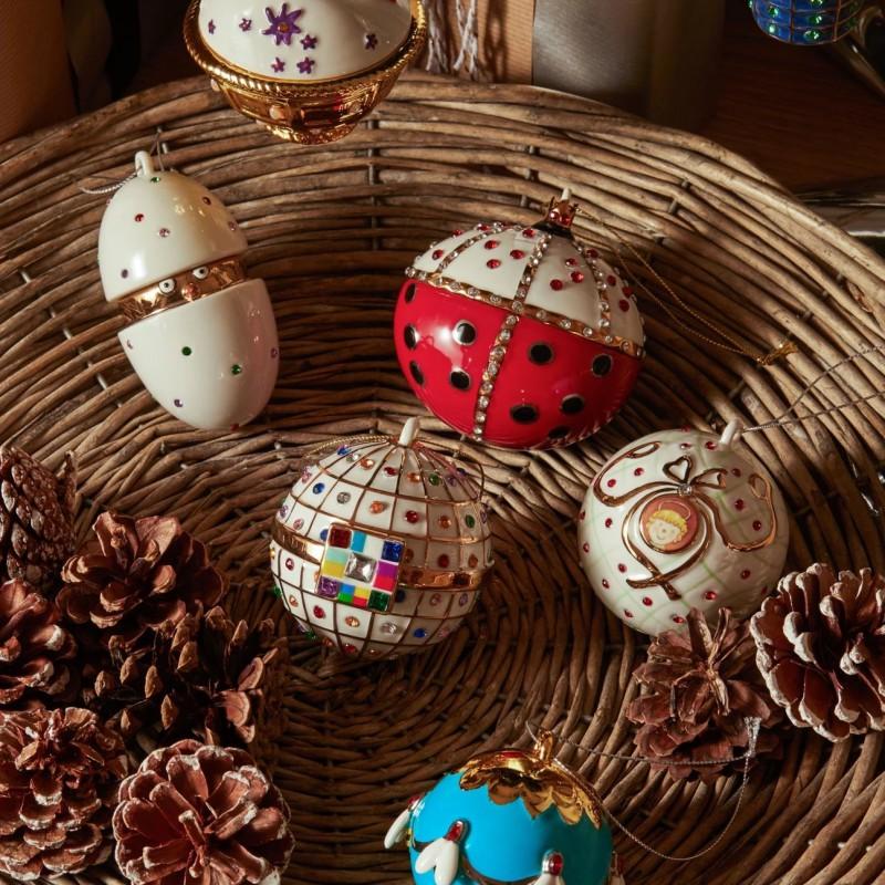 Palla albero di Natale in porcellana pulcino