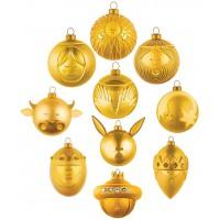 set 10 palle oro albero di natale