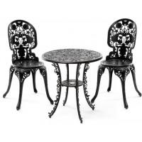 Set nero tavolino e 2 sedie industry