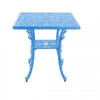 Tavolino azzurro quadrato industry collection