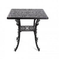 Tavolino nero quadrato industry collection