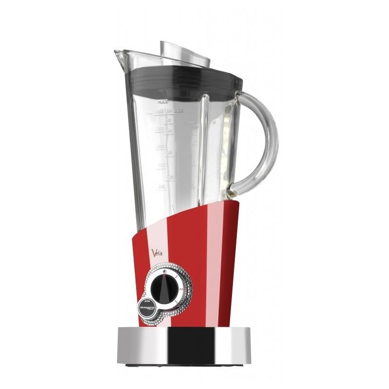 frullatore vela rosso con 146 cristalli swarovski