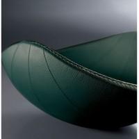 centrotavola ninna nanna rivestito in pelle verde