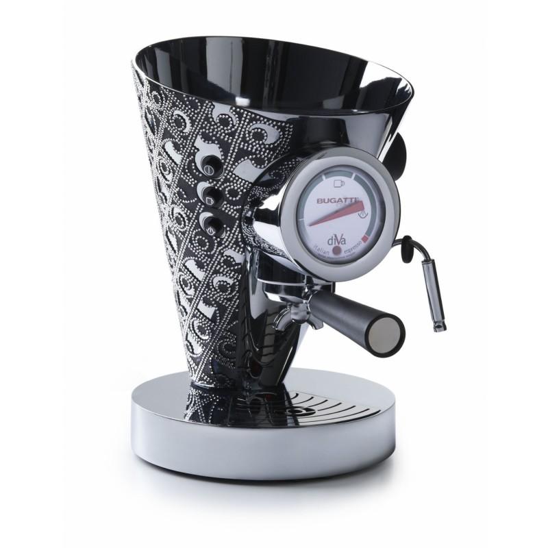 macchina da caffè diva silver con 2300 cristalli swarovski