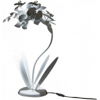 Lampada da tavolo Orchidea bianco neve 57cm