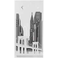 Decorazione da parete con orologio verticale New York