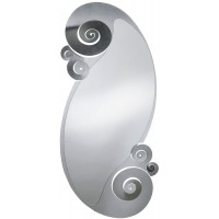 Specchio in ferro con riccioli Circeo argento 130cm