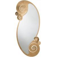 Specchio da terra in ferro con riccioli Circeo oro 170cm