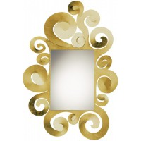 Specchio Temple oro 130cm