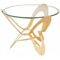 Tavolo contemporaneo Ninfa oro 65cm