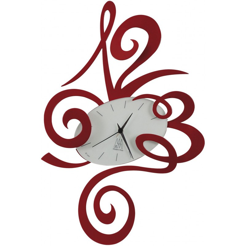 Orologio Big Robin rosso 62cm
