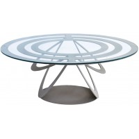 Tavolino Optical ovale ardesia 80cm