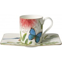Set 6 tazze caffè con piattino Amazonia