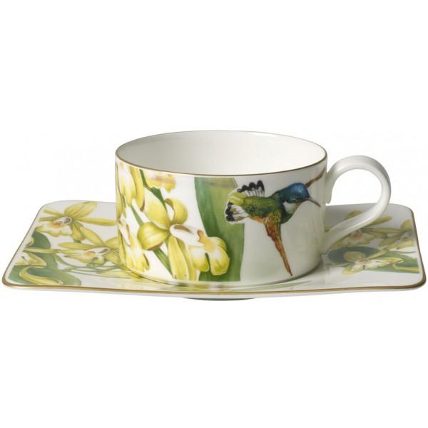 Set 6 tazze tè con piattino Amazonia