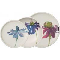 Set 18 piatti Flower Art Artesano