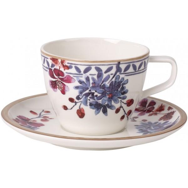 Set 12 tazze caffè con piattino Provencal Artesano