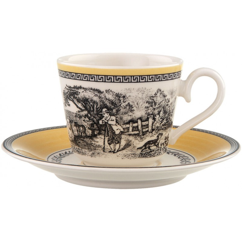 Set 6 tazze caffè con piattino e zuccheriera Ferme Audun