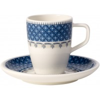 Set 12 tazze caffè con piattino Casale Blu