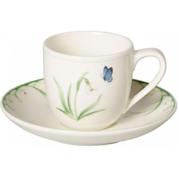 Set 12 tazze caffè con piattino Colourful Spring